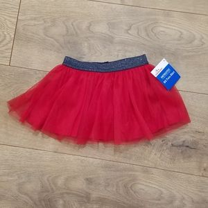 Patriotic Tutu Skirt Red Tulle {6-9M} NWT